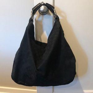 Black Gucci horse bit large bag